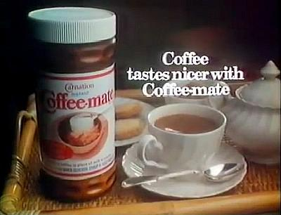 Coffee tastes nicer with Coffee-Mate advert 1981