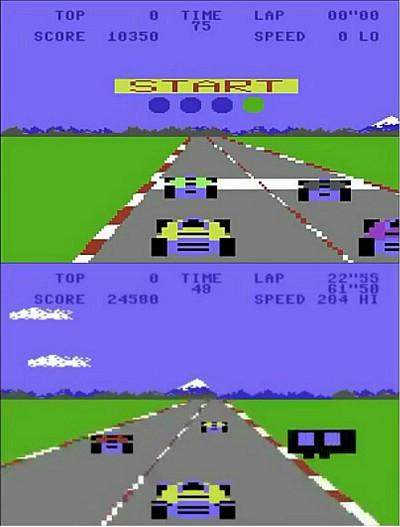 Pole Position C64 screenshots