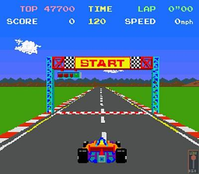 Pole Position start screen (arcade version)
