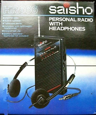 Saisho HR666 Personal Stereo with Headphones