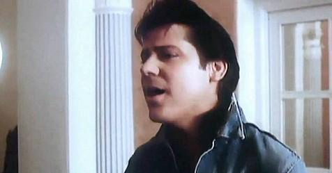 Shakin' Stevens in the video for