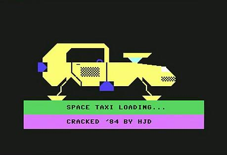 Space Taxi loading screen on C64