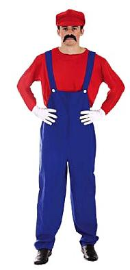 Budget Mario Super Workman Plumber Costume for Adults