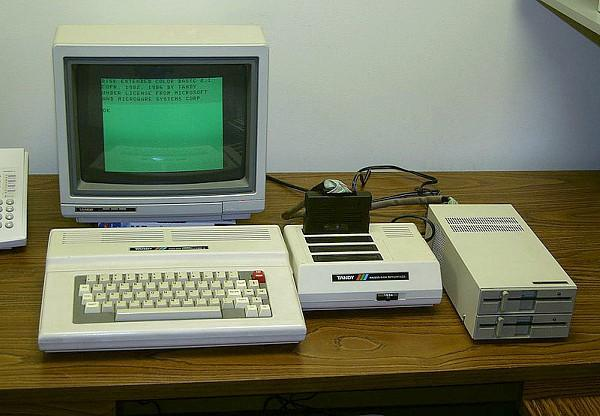 Tandy Color Computer 3 set-up