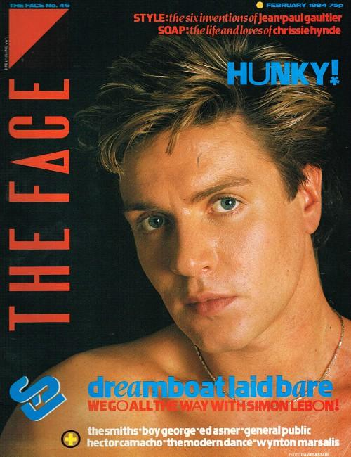 Simon Le Bon on the cover of The Face magazine Feb 1984