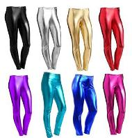 Metallic Wet Look Leggings