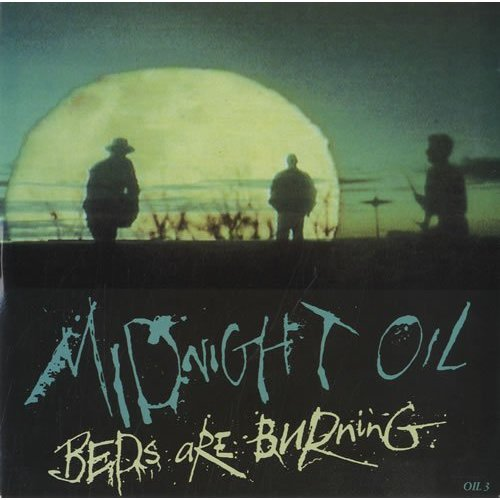 Midnight Oil - Beds Are Burning vinyl single sleeve