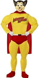 Mighty Mouse cartoon character fancy dress costume