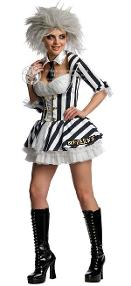 Official Miss Beetljuice Fancy Dress Costume for Ladies