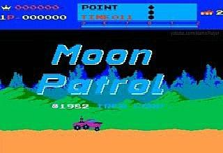 Moon Patrol arcade game title screen (1982) by Irem