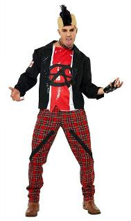 Mr. Anarchist Punk Costume for Men
