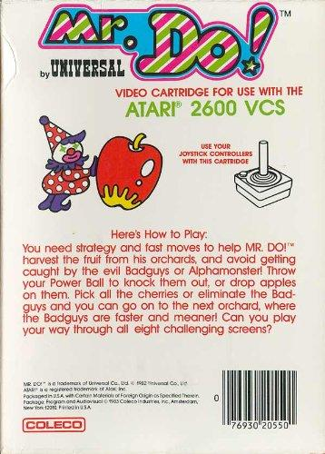 Mr. Do! Instructions Leaflet for Atari 2600 VCS by Coleco