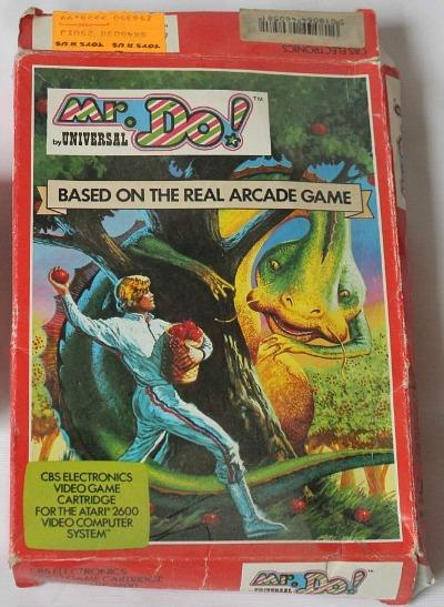 Mr. Do! Atari 2600 box