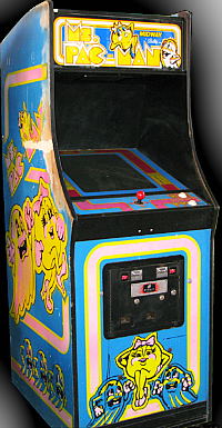 Ms. Pac-Man - 1980s arcade game cabinet