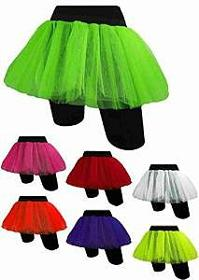 Low-Cost 80s Neon Skirt - choice of colours