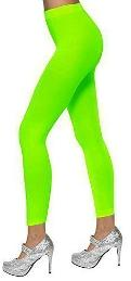 Neon Green Footless Tights - 80s dancewear