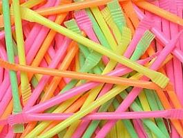 Sherbert Dust Straws in neon colours