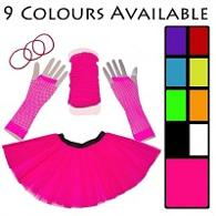 Neon 80s Tutu Set with leg warmers and fishnet gloves