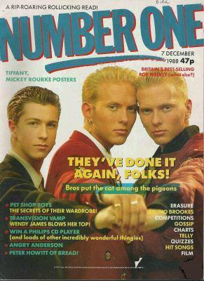 Number One Magazine (Dec 1988) featuring Bros on the cover