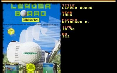 Leader Board Golf Commodore 64 Title Screen