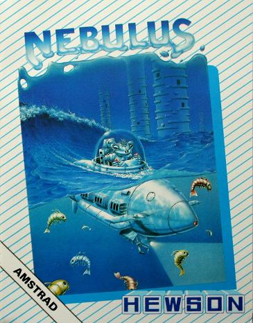 Nebulus Amstrad CPC cassette inlay card