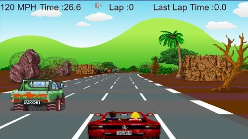 Out Run online HTML5 game screenshot