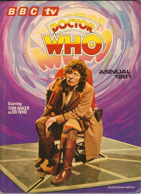 BBC TV Doctor Who Annual 1981 ft. Tom Baker as the fourth Doctor