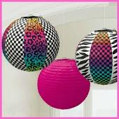 1980s themed paper lanterns