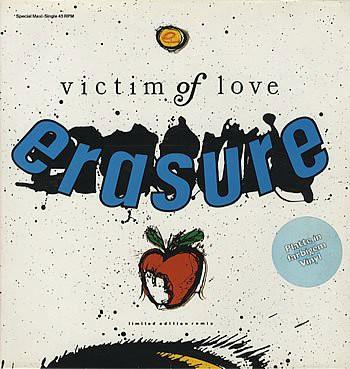 ERASURE Victim Of Love (1987 German 3-track limited Blue Marbled Vinyl 12