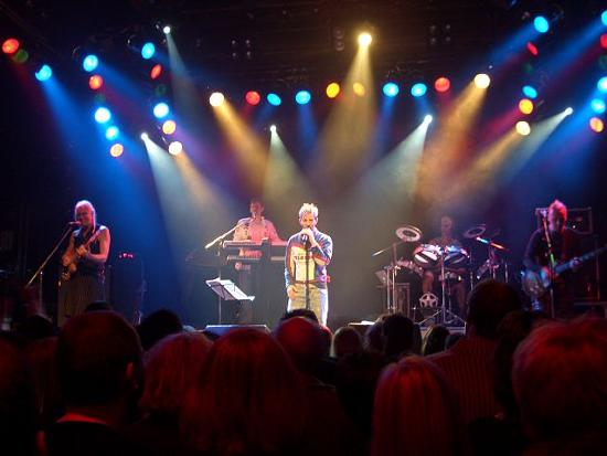 Limahl and Kajagoogoo performing in Germany during their reunion tour in 2008.