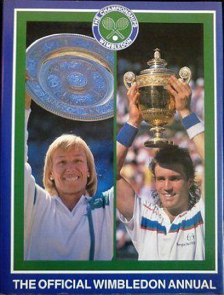 Official Wimbledon Annual 1987 ft. singles champions Martina Navratilova and Pat Cash.