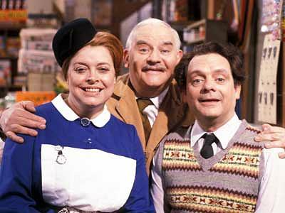 Open All Hours - Nurse Gladys Emmanuel (Lynda Baron), Arkwright (Ronnie Barker) and Granville (David Jason)