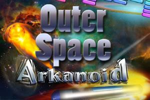 Outer Space Arkanoid Title Screen
