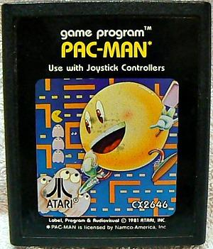 Pac-Man video game cartridge for the Atari 2600 (1981)