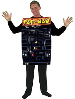 Pac Man 80s Video Game Costume For Men