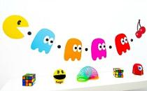 PAc-Man and Ghosts - 80s Party Bunting