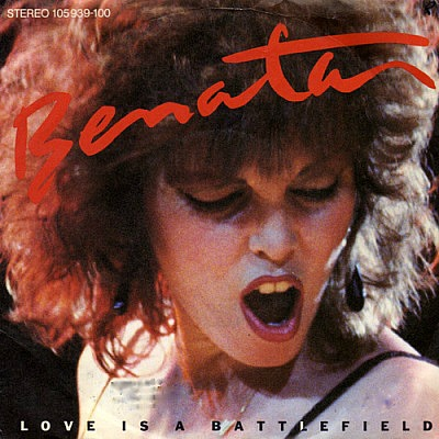 Pat Benatar - Love is a Battlefield - vinyl cover