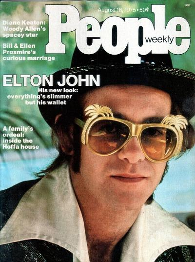 Elton John on the cover of People Weekly in August 1975