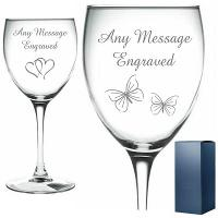 Personalised Engraved Wine Glass Gift