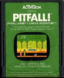 Pitfall! game cartridge for the Atari 2600 (1982 Activision)