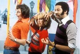 BBC Play School presenters Johnny Ball, Carol Leader and Derek Griffiths