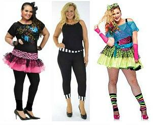 Plus Size Retro 80s Costumes
