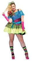 Plus Size Neon 80s Costume for Women