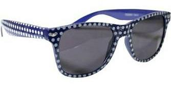 Blue and white polka dots wayfarer sunglasses
