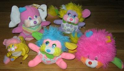 Popples Plush Toys from the 1980s