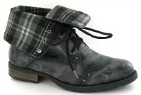Punk Tartan Boots for Men