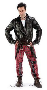 Tartan Punk Bondage Trousers for Men