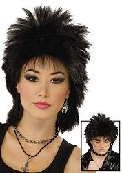 Short and Spiky Black Punk Wig - Unisex