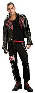 Punked Out Mens Punk Fancy Dress Costume