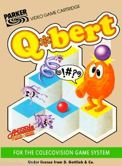 Q*Bert promotional flyer/poster for the Colecovision game system